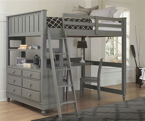 beds with desks 2045 size loft bed with desk lakehouse collection