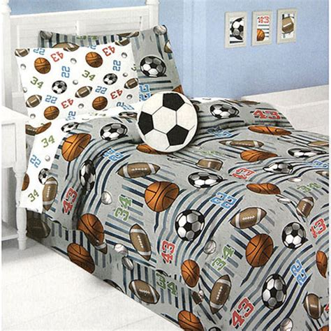 full size sports bedding football and soccer bedding set 12pc soccer bed in a bag