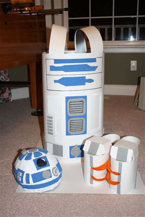 How To Make R2d2 Out Of Paper - how to make a r2d2 costume for 10 5 steps with pictures