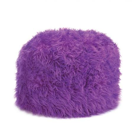Fluffy Pouf Ottoman fuzzy ottoman orchid pouf new home decor soft backrest footrest seat purple ebay