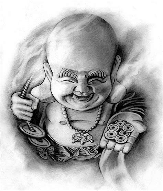 laughing buddha tattoo designs design happy buddha by badfish1111 on deviantart