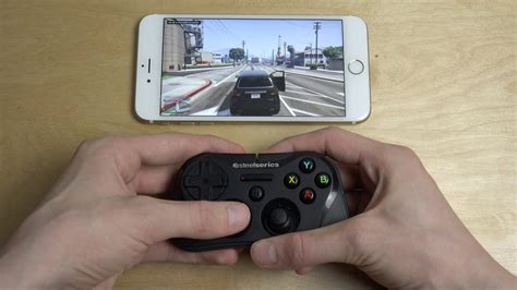 gta 5 iphone 6s plus steelseries gamepad moonlight test
