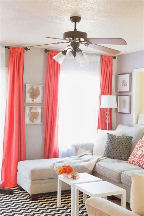 how to curtains for living room sheets for drapes pop of coral living room home decor and interior decorating ideas for