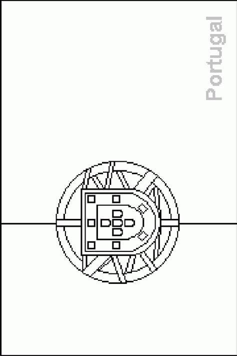 Colouring Book Of Flags Southern Europe Portugal Flag Coloring Page