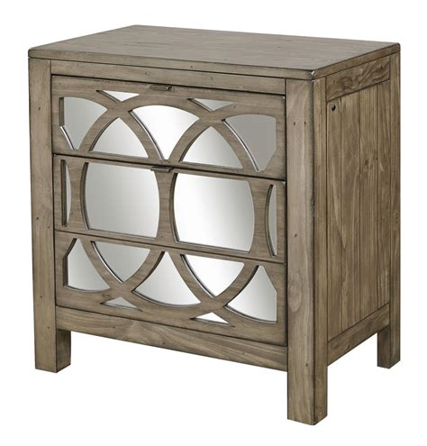 Mirrored Nightstand With Drawers by Aspenhome Tildon Liv360 Mirrored Nightstand With Two