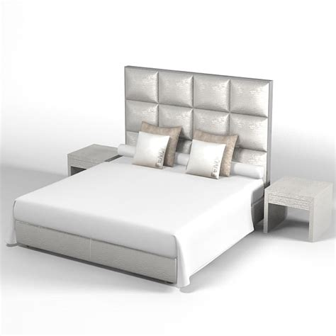 back of bed fendi modern contemporary 3d model