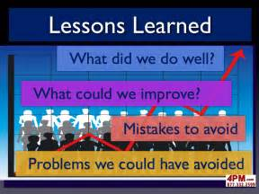 Project Management Lessons Learnt Template by Lessons Learned Project Management