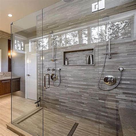 Extra Large Walk In Shower Enclosures With Unique Wall