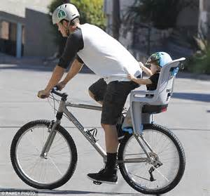Pedal Axl josh duhamel pedals mountain bike with axl in the back