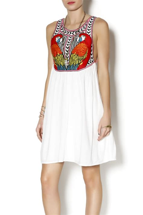 embroidered swing dress mara hoffman embroidered swing dress from florida by dody