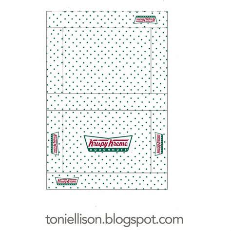 free printable elf on the shelf donut box free printable from toni ellison krispy kreme doughnut