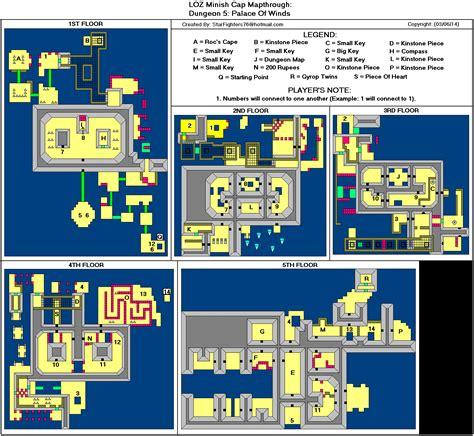 legend of zelda gameboy map the legend of zelda the minish cap dungeon 5 palace of