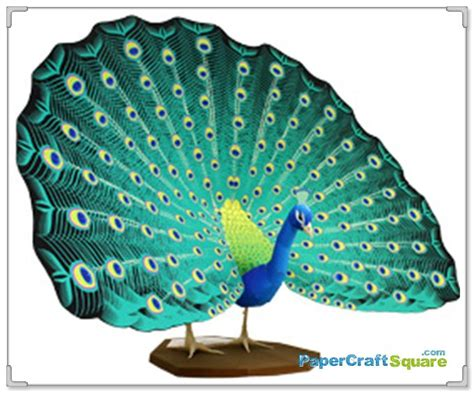 Canon 3d Papercraft - indian peafowl papercraft canon 3d