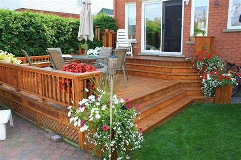 deck and patio ideas for small backyards patio and deck ideas for small home landscaping