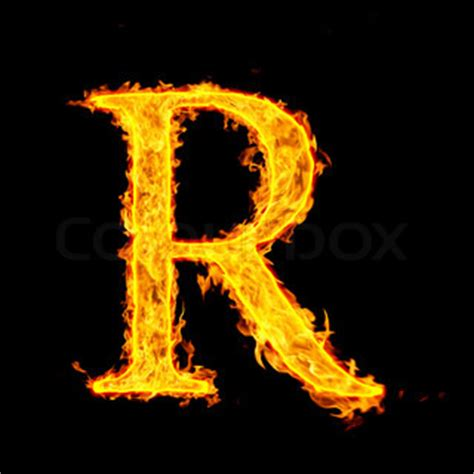 R R Fireplace by R Letter Stock Photo Colourbox