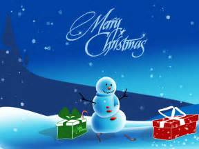 Christmas snowman smiling photo with christmas gifts and blue