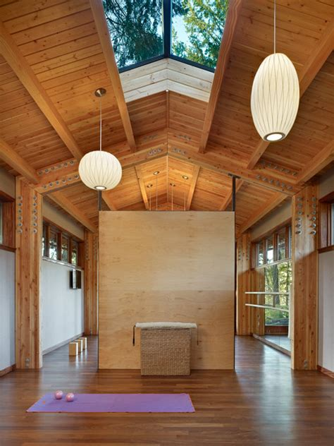 yoga studio contemporary home gym seattle shks architects