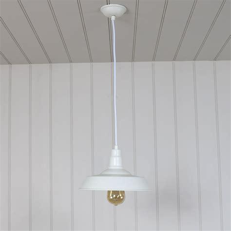 White Pendant Light Fitting White Vintage Industrial Barn Style Pendant Light Fitting Melody Maison 174