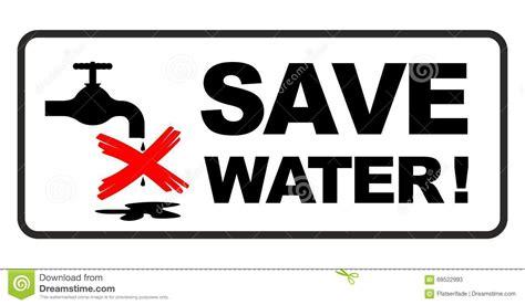 Water Saving Faucet Save Water Sign Stock Illustration Image 69522993