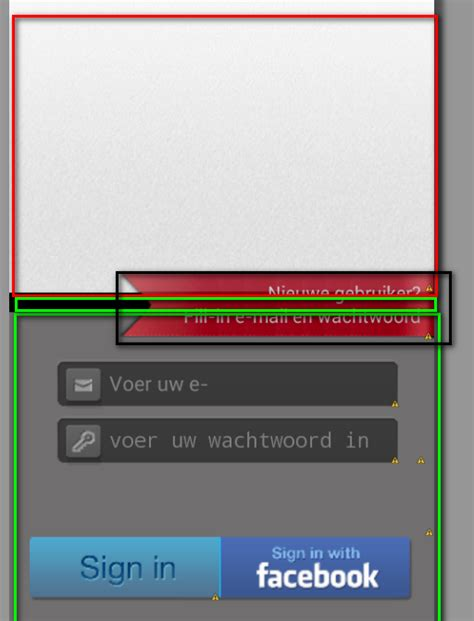 relativelayout login login how to place a relativelayout front other layout