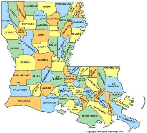 louisiana map louisiana parish map la parishes map of louisiana