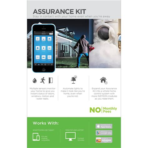 insteon assurance home automation kit 2522 232 b h photo