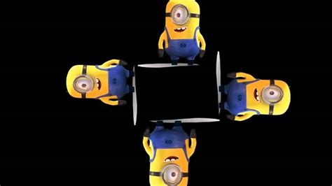 smartphone 3d hologram projector minions how to make 3d minion holographic video for smartphone projector youtube