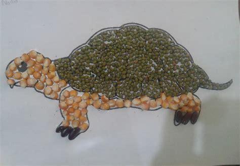 membuat kolase gambar hewan gambar rumah pena faiza membuat mozaik biji bijian anak