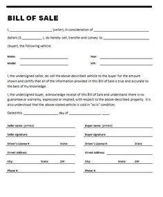 printable bill of sale car california california car bill of sale form
