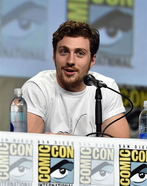 aaron taylor johnson comic con marvel comic con panel images with avengers age of ultron