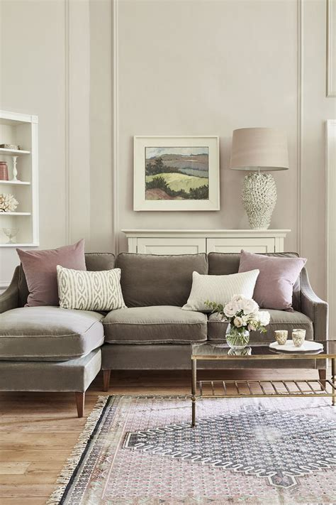 brown leather sofa living room ideas the 25 best grey velvet sofa ideas on gray