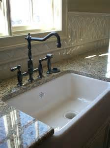kitchen sink backsplash farmhouse sink with backsplash kitchen eclectic with