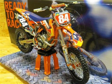 Diecast Miniatur Motor Trail Cross Ktm 450 Sx F 2009 Replika Murah ktm 250 sx f 2014 jeffrey herlings bull team 1 12