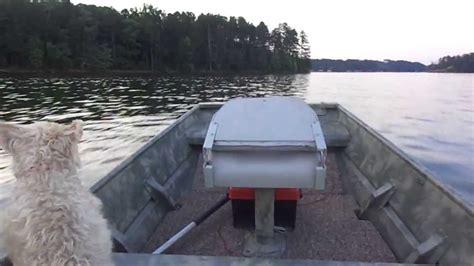 small flat bottom boat small flat bottom boat running on the lake youtube