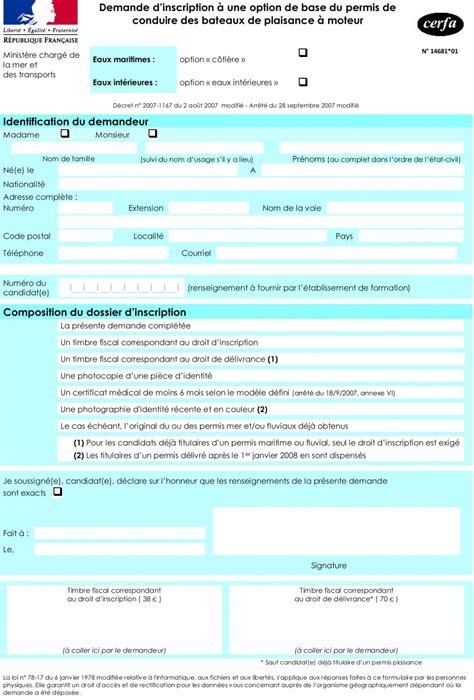 Cerfa Credit Formation 2015 Permis Bateau Ajaccio