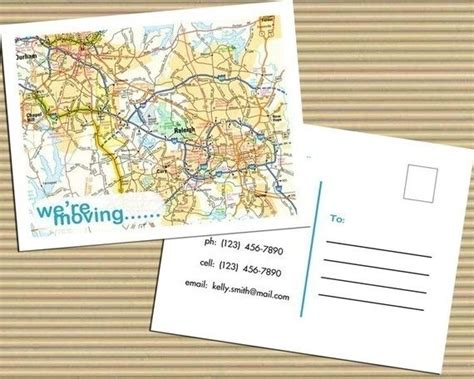 personal address cards templates 14 best moving announcements new address postcard