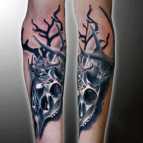 deer skull tattoos for men 90 deer tattoos for manly outdoor designs