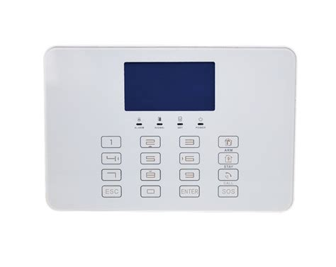 wireless home security touch screen 868 mhz gsm alarm