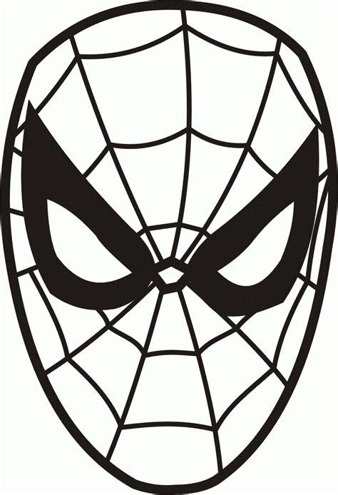 printable mask of spiderman we4you2 kleurplaten van gezichten zelfkleuren