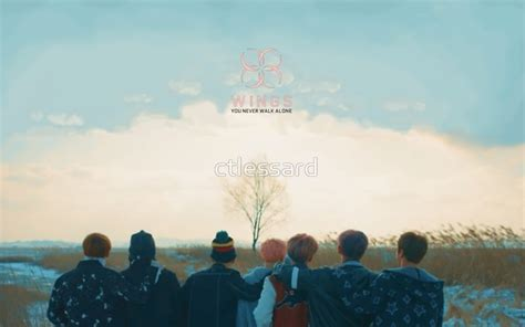bts wallpaper tablet quot bts spring day quot posters by ctlessard redbubble