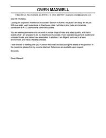 Cover Letter Sle For Warehouse Position by Best Production Cover Letter Exles Livecareer