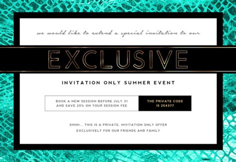 sle of invitation email to an event photographer marketing template invite only sales event