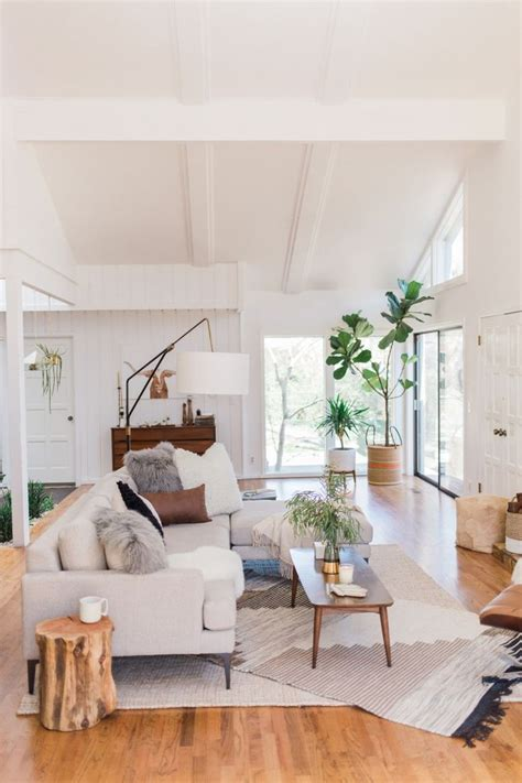 Home Living Room Ideas - a boho styled tulsa home that is anything but cookie
