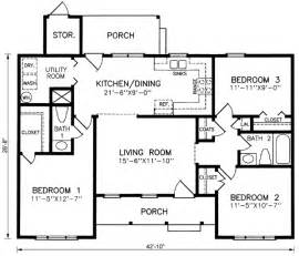 Three Bedroom Ranch House Plans Gallery For Gt Small 3 Bedroom Ranch House Plans