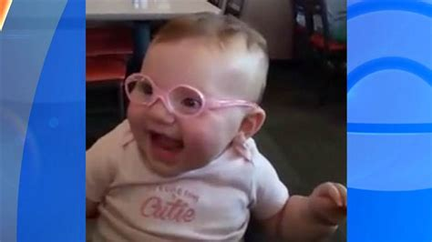 when do babies start seeing color this baby s adorable reaction to seeing clearly for