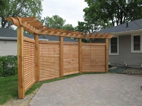 backyard privacy wall lattice and pergola fence to block shed add some privacy