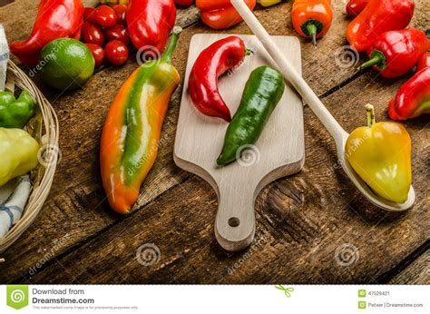 types of garden peppers bio peppers from the garden stock photo image 47529421