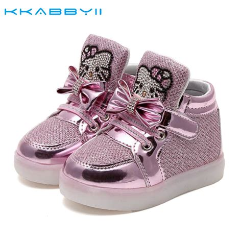 baby boy light up shoes kkabbyii kids new fashion children shoes with led light up