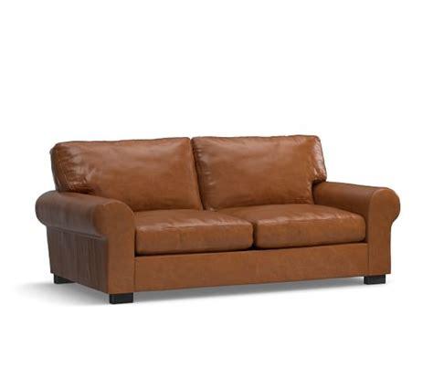 Turner Leather Furniture Pottery Barn Turner Leather Sofa