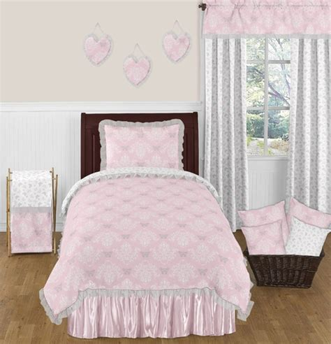 Gray And Pink Comforter Set by Pink And Gray Butterfly 4pc Bedding Set